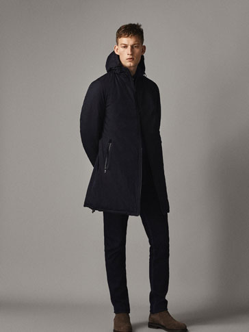 REVERSIBLE NAVY TRENCH COAT