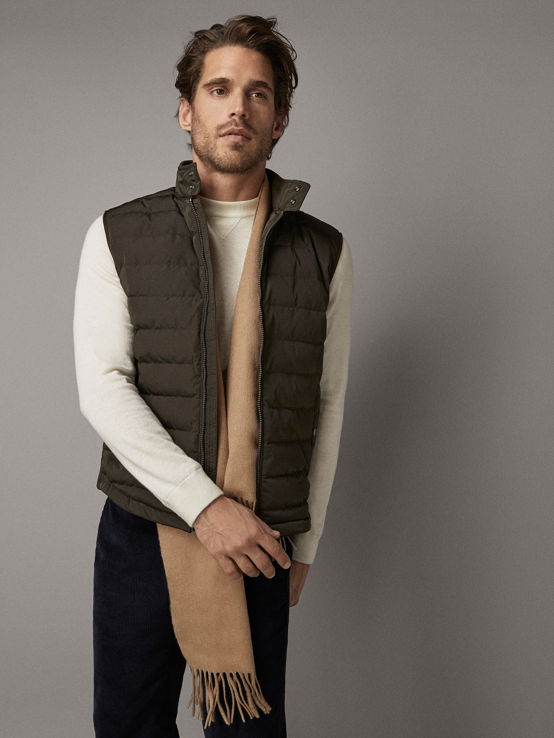 Massimo Dutti DOWN GILET WITH CONTRAST PIPING at £79.95   love the ... 0622f3f16f1