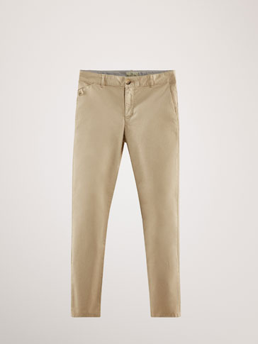 PANTALONI CHINO REGULAR FIT DIN BUMBAC
