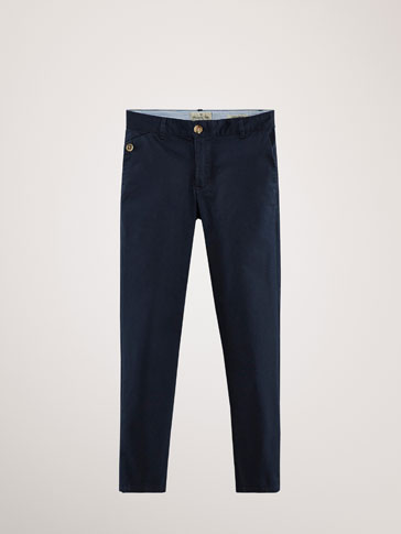 REGULAR-FIT BOMULLSBUKSE TYPE CHINOS