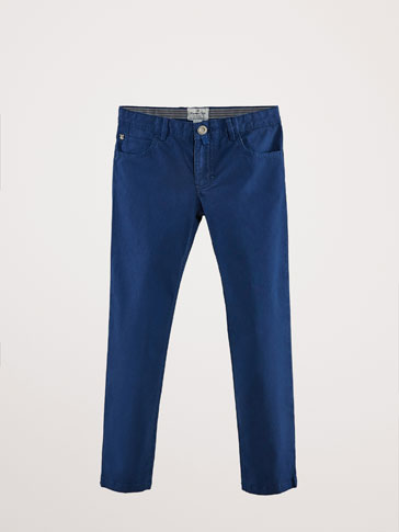PANTALON COTON FAUX JEAN SLIM FIT