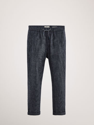 PANTALON COTON CARREAUX COUPE REGULAR