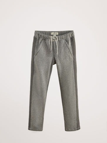 COTTON JOGGING TROUSERS WITH SIDE STRIPES