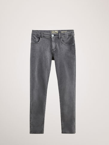 KATOENEN DENIM BROEK SLIM FIT