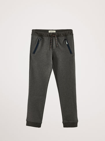 JOGGING FIT TEXTURED WEAVE TROUSERS