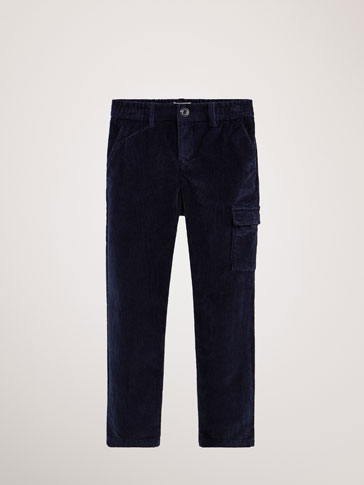 JOGGING FIT CORDUROY TROUSERS