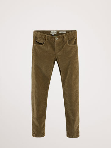 REGULAR FIT CORDUROY TROUSERS