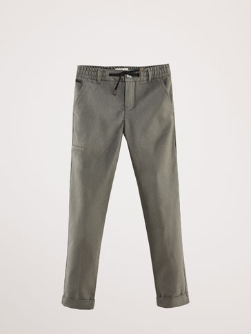REGULAR FIT CARGO POCKET TROUSERS