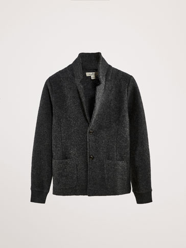 PLAIN WOOL BLAZER