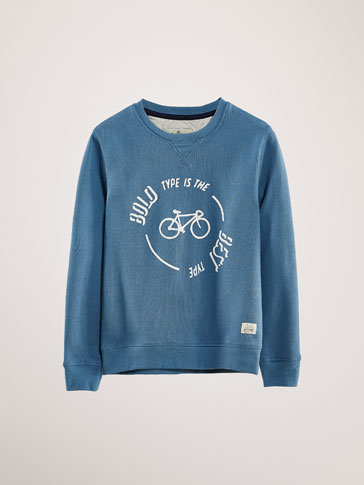 BICYCLE PRINT COTTON SWEATSHIRT