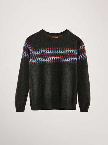 LIMITED EDITION WOOL/CASHMERE JACQUARD SWEATER