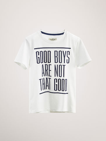 KATOENEN T-SHIRT GOOD BOYS
