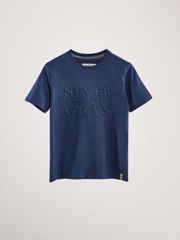 'NEVER ENDING' COTTON T-SHIRT