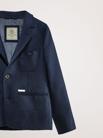 100% WOOL BLAZER NAVY