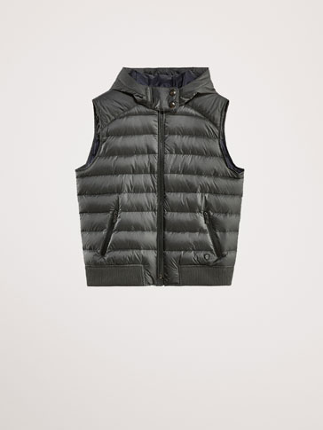 DOWN PUFFER GILET WITH THERMO-SEALING