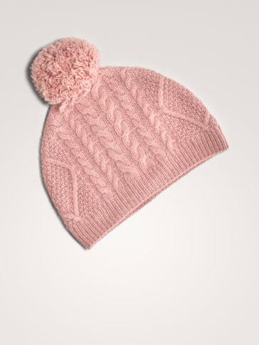 قبعة 100% كاشمير جدائل