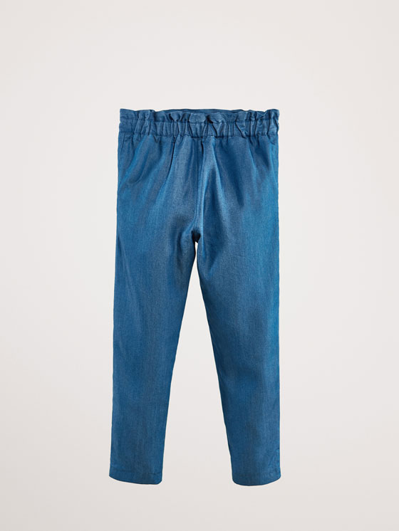 Massimo Dutti - PANTALON LYOCELL DENIM NŒUD JOGGING FIT - 5