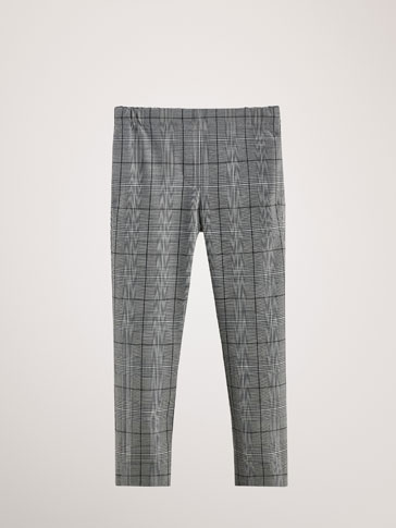 KARIERTE SLIM-FIT-HOSE