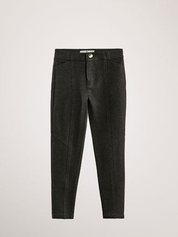 SLIM FIT TROUSERS WITH SEAMS