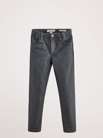 SLIM FIT JEANS WITH SIDE STRIPES