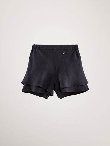 LINEN/LYOCELL DOUBLE-LAYER SHORTS