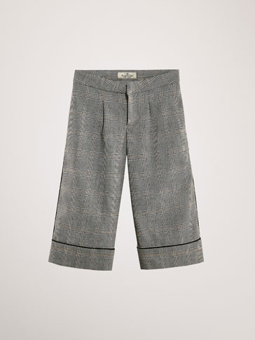 PANTALON À CARREAUX CULOTTE FIT