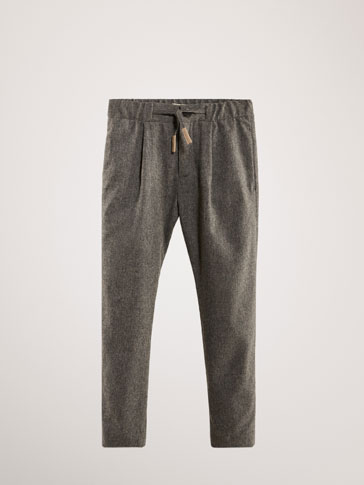 PANTALON LAINE À PINCES JOGGING FIT LIMITED EDITION