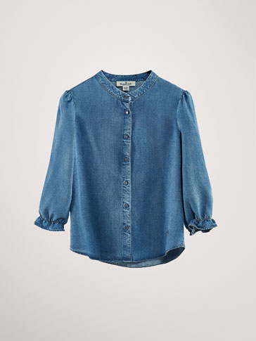 DENIM LYOCELL BLOUSE