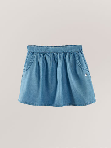 DENIM LYOCELL SKIRT