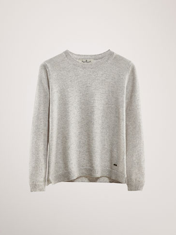 100 Percents Cashmere Open Knit Sweater by Massimo Dutti