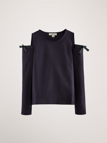 SWEATSHIRT WITH CUT-OUT SHOULDERS