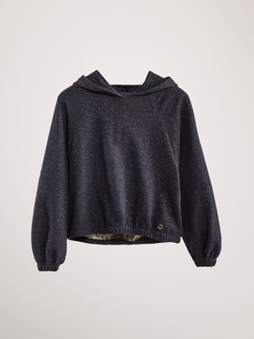 SHIMMER COTTON SWEATSHIRT