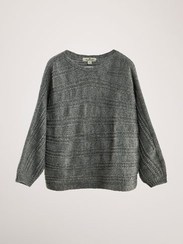 LIMITED EDITION TEXTURED CAPE SWEATER