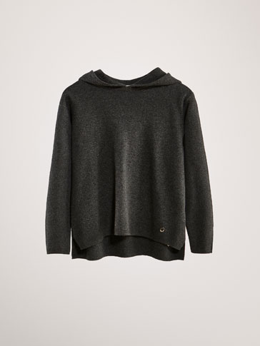 COTTON/CASHMERE HOODED SWEATER