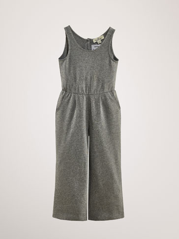 COTTON DARTED JUMPSUIT