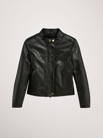 PLAIN NAPPA LEATHER JACKET
