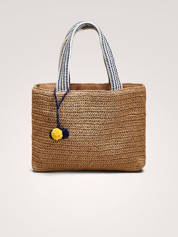 TOTE BAG WITH POMPOMS