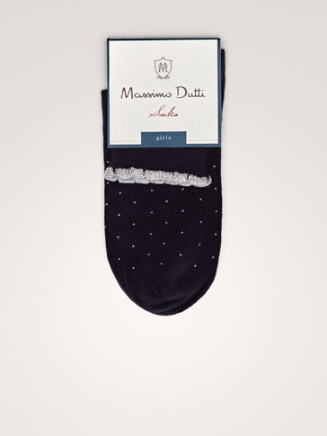 POLKA-DOT COTTON SOCKS