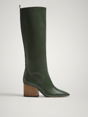 LIMITED EDITION GREEN LEATHER BOOTS