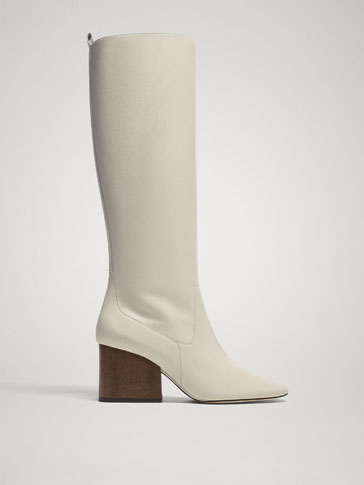 LIMITED EDITION WHITE LEATHER BOOTS