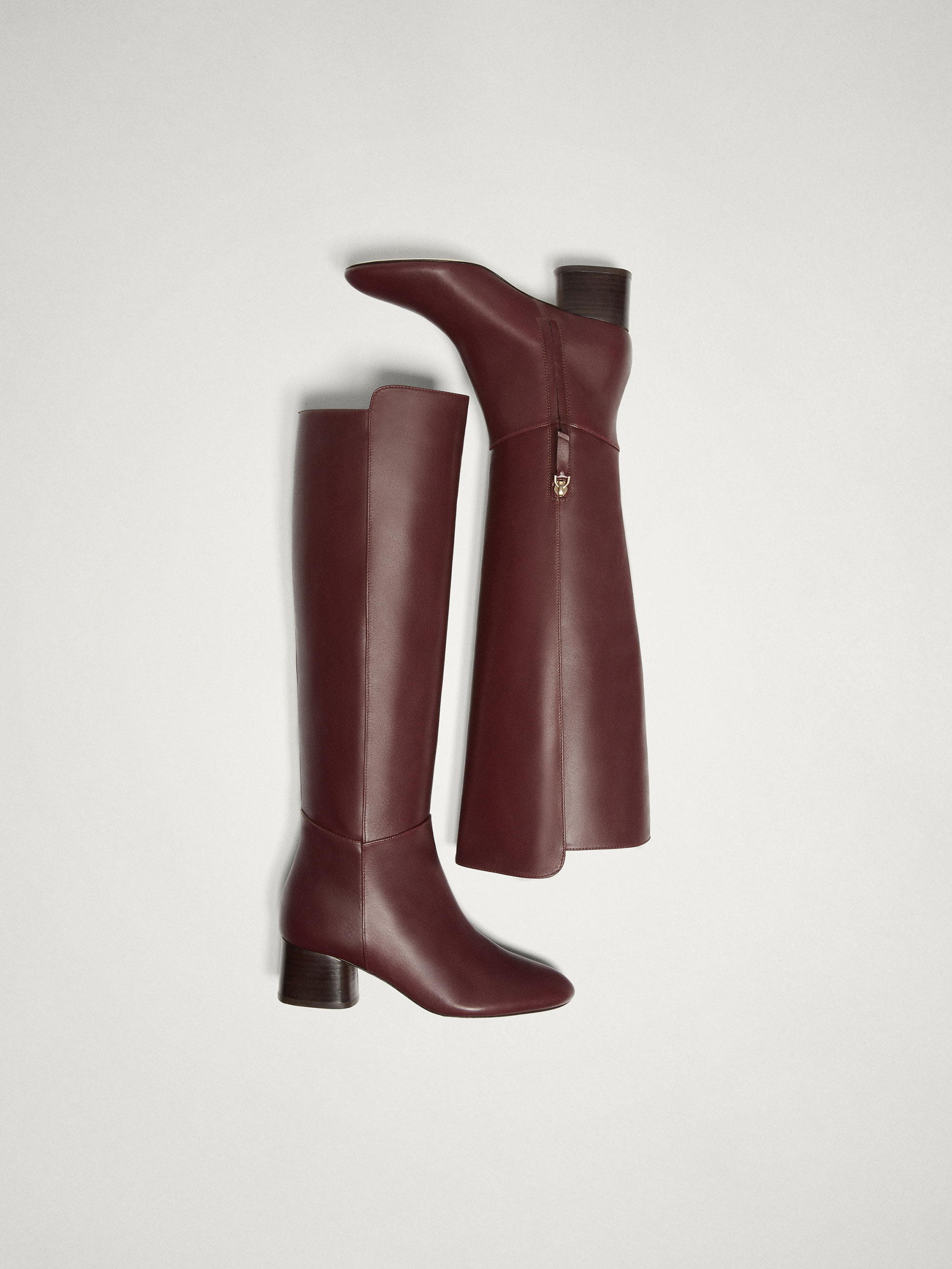 Massimo Dutti BURGUNDY NAPPA LEATHER BOOTS at £179   love the brands 3ce8d91ad63
