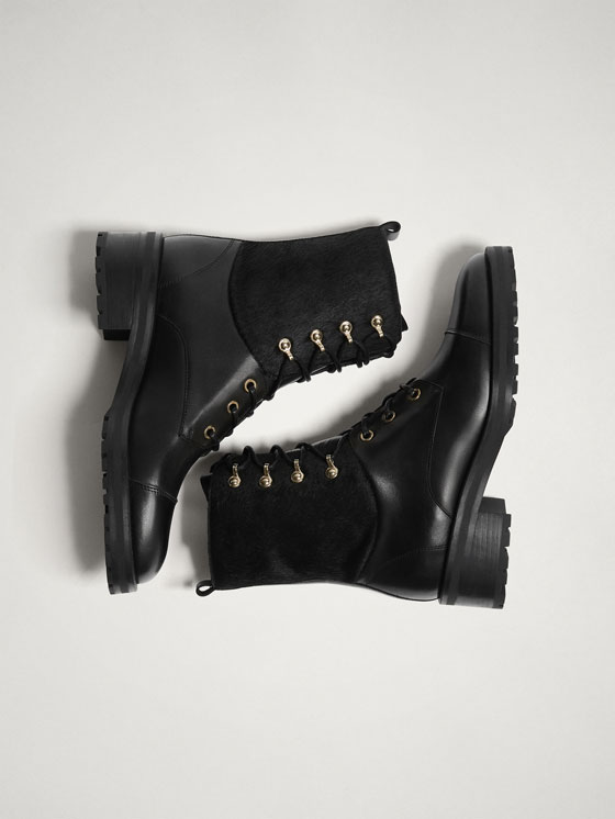 buy \u003e massimo dutti black ankle boots