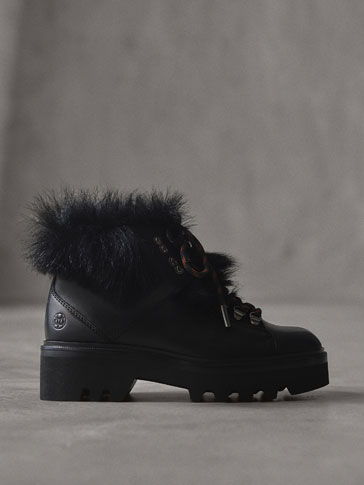 WINTER CAPSULE LEATHER MOUNTAIN ANKLE BOOTS