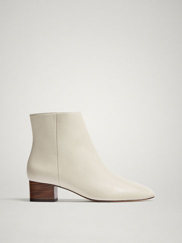 WHITE NAPPA ANKLE BOOTS