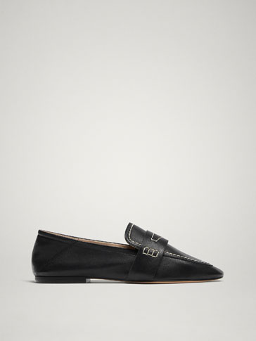 BLACK SOFT NAPPA LEATHER LOAFERS