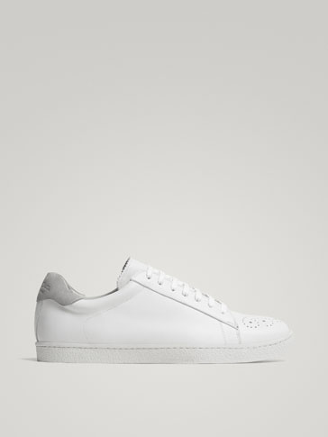 LIMITED EDITION WHITE LEATHER SNEAKERS