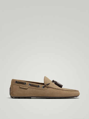 SAND LEATHER KIOWA LOAFERS