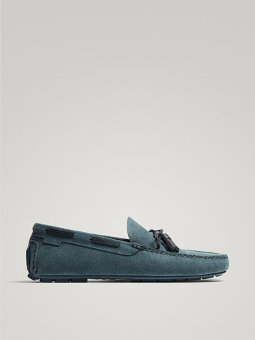 BLUE LEATHER KIOWA LOAFERS