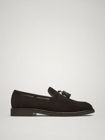 MOCASSINS GLANDS CUIR MARRON