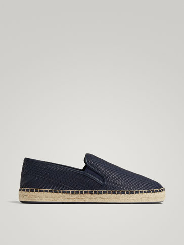 BLUE BRAIDED JUTE ESPADRILLES